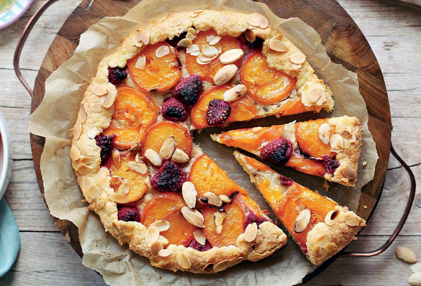 Tarte aux abricots et à la framboise