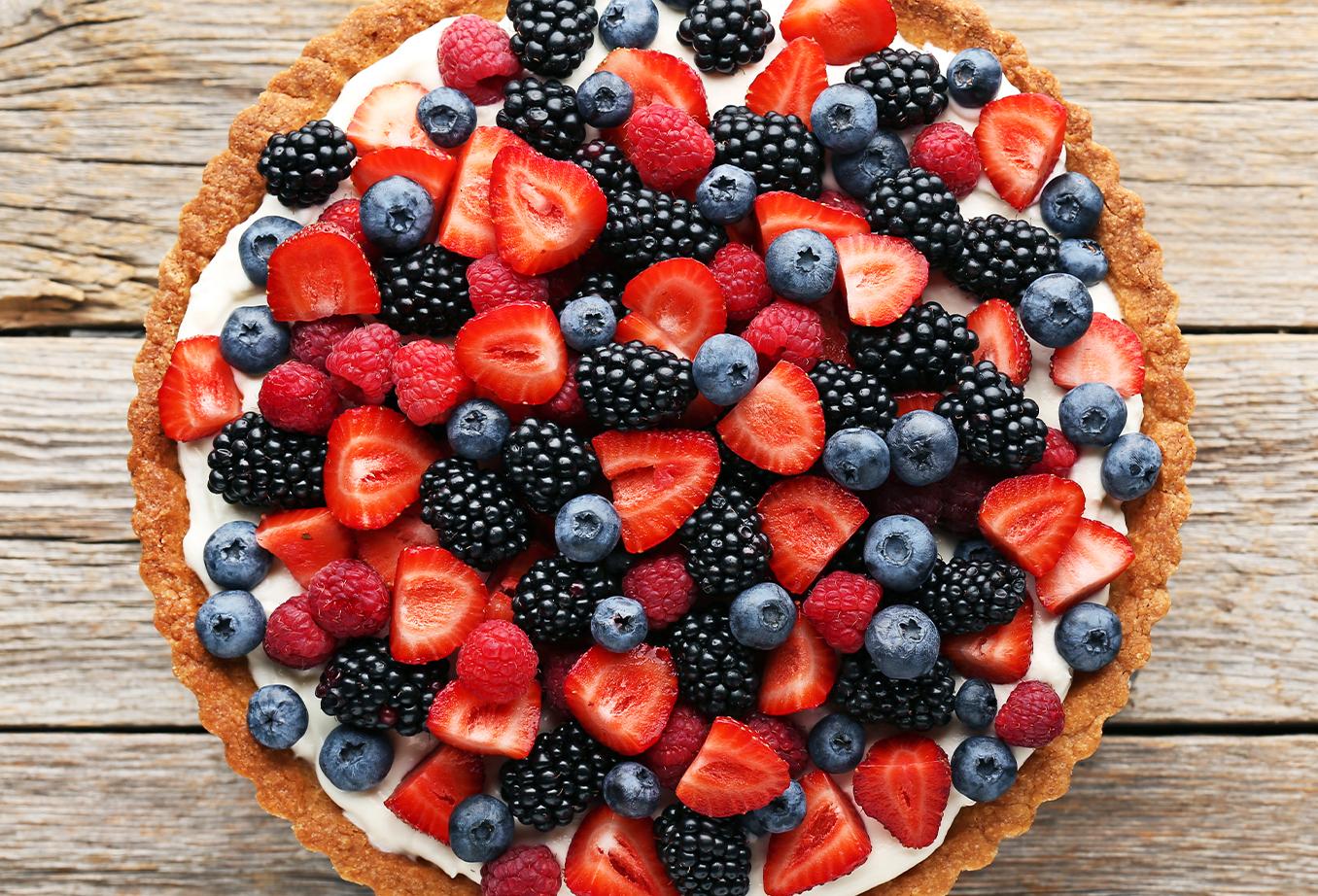 Une délicieuse tarte aux fruits rouges idéale pour l'été !